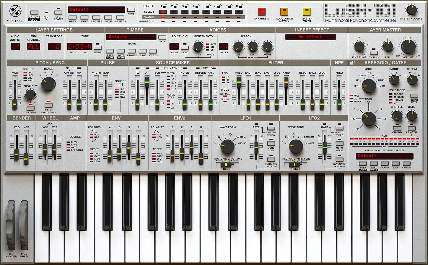 D16 Lush 101 Synth Download Version WIN/MAC