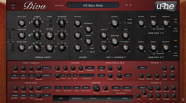 U-He Diva Analogue Synth WIN/MAC