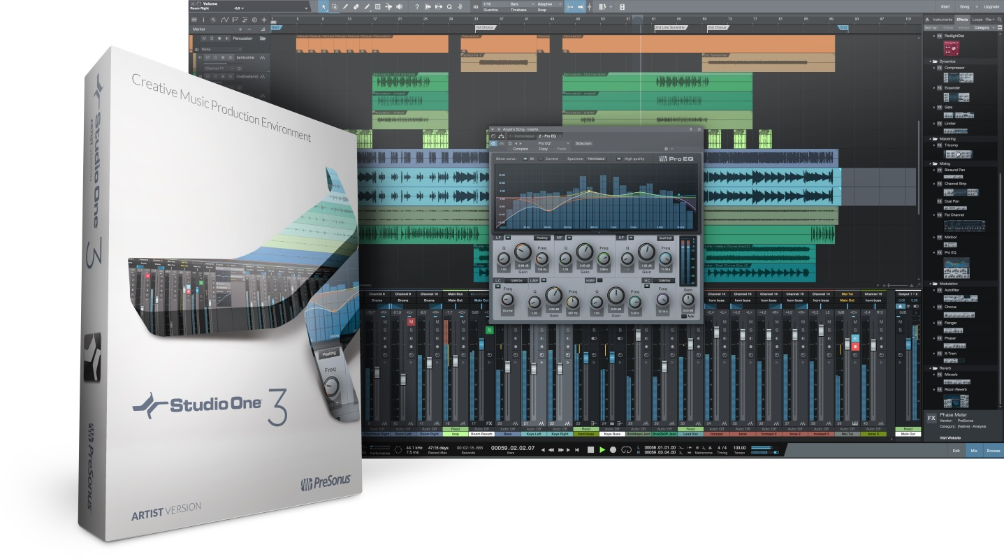 Presonus Studio One Artist 3 WIN/MAC Download Version