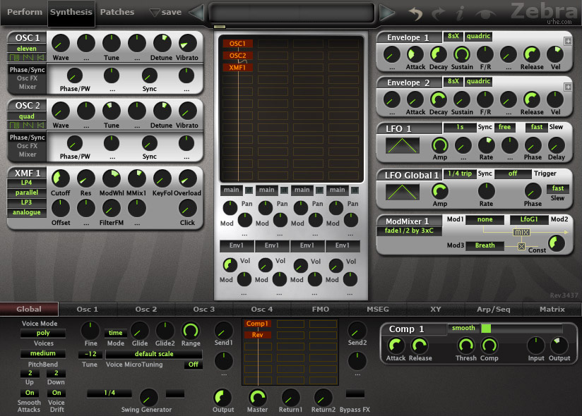 U-HE Zebra 2 Synth WIN/MAC Download Version